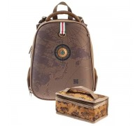 Рюкзак Hatber ERGONOMIC Classic TRAVEL для мальчика, начальная школа