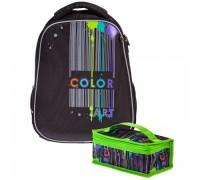 Рюкзак ERGONOMIC light Color art для девочки, начальная школа
