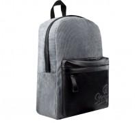 Рюкзак 53691 СЕРЫЙ для девочки старшей школы